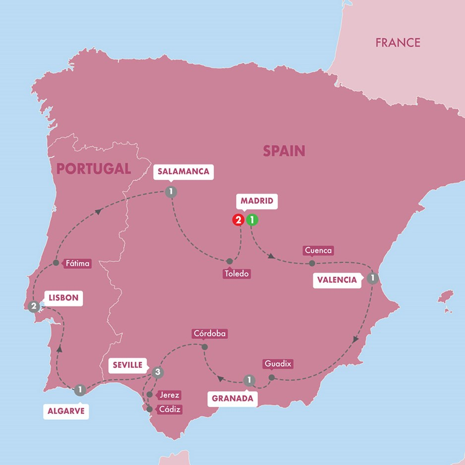 WHIG Highlights Of Spain And Portugal Winter Season Map New 20 Tt