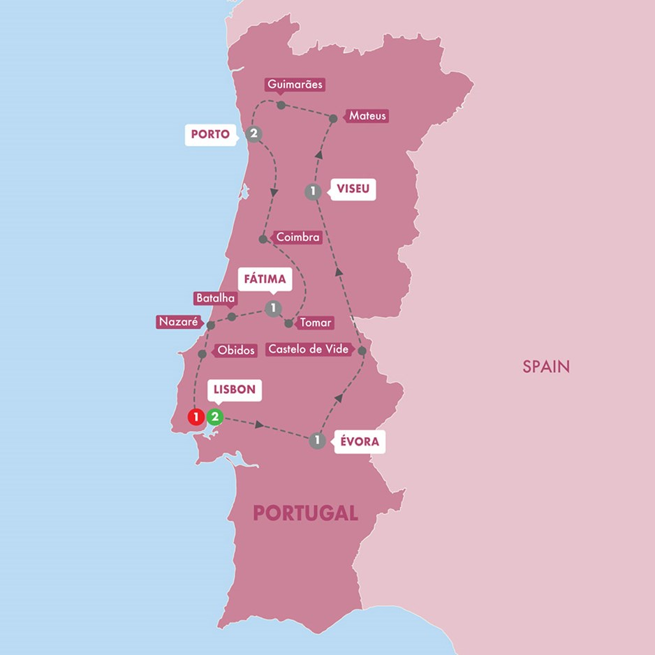 WPOR Wonders Of Portugal Winter Season Map New 20 Tt