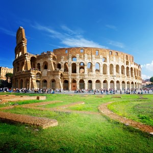 Roman Colosseum in Rome Italy