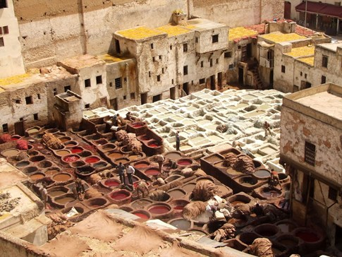 Tannery and medina, Fez, Morocco