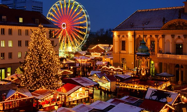 Christmas In Europe.Alpine Christmas Markets