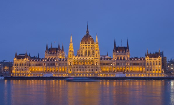 Budapest Parliament in Winter