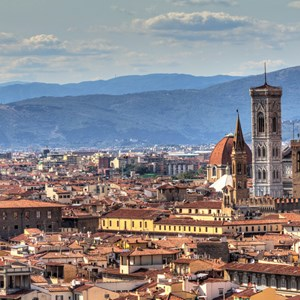 View of Skyline  in Florence, Italy