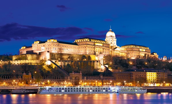 Budapest cruise at night