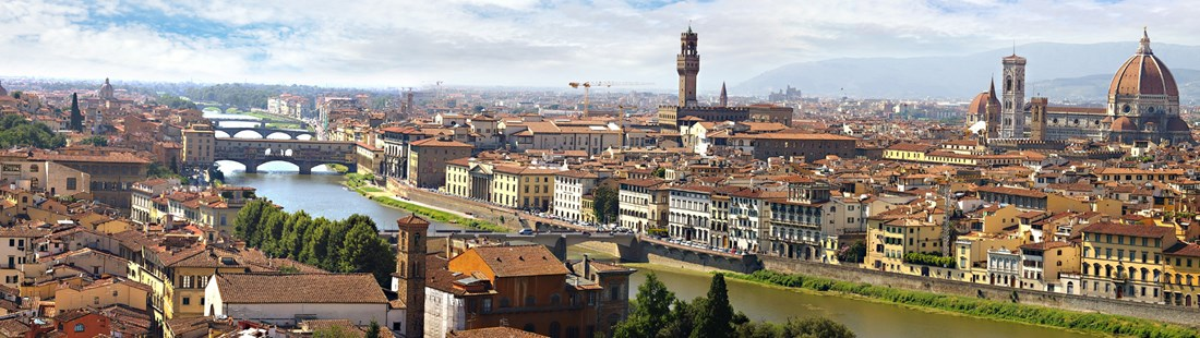 Florence Cite & Arno River in Italy
