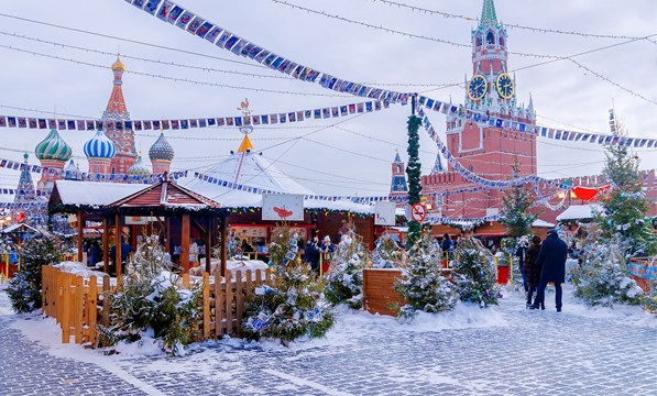 Russian Christmas.Easy Pace Russia With Christmas Markets