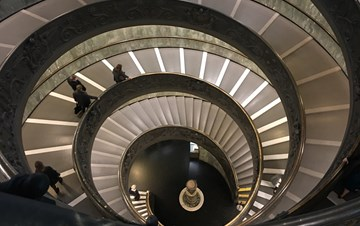 Vatican Bramante Staircase at night