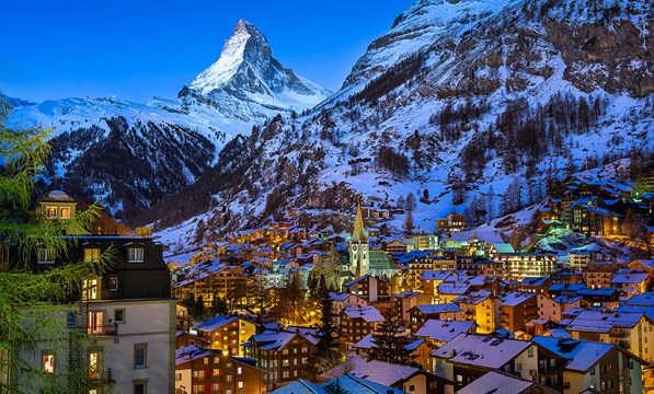 Zermatt Valley & Matterhorn Peak
