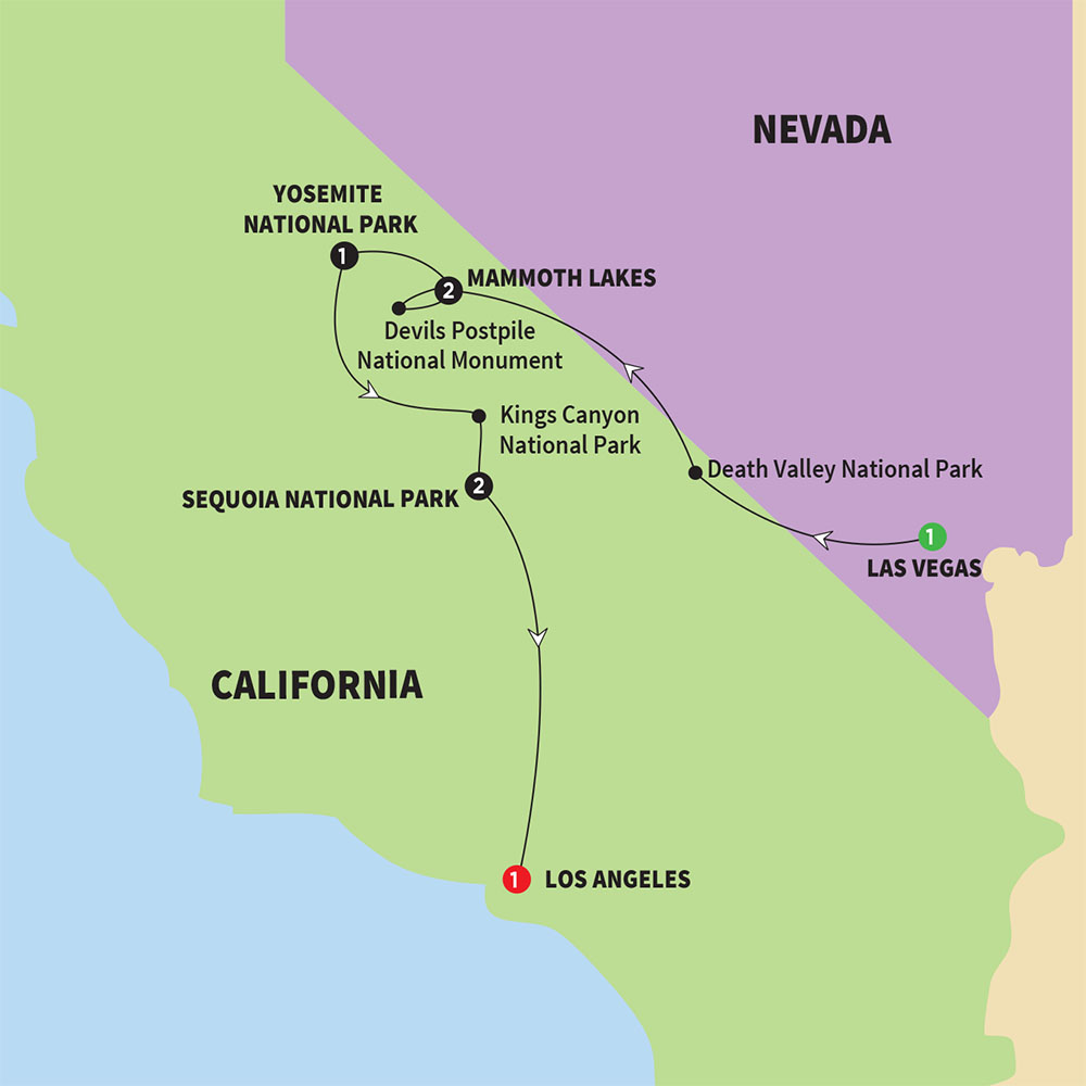 Californias Great National Parks Grand European Travel