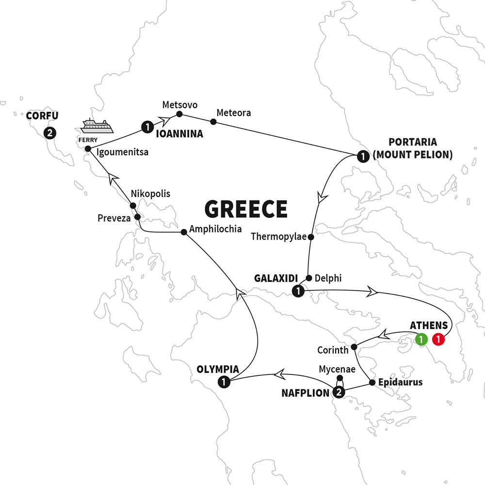 Secrets of Greece including Corfu Grand European Travel