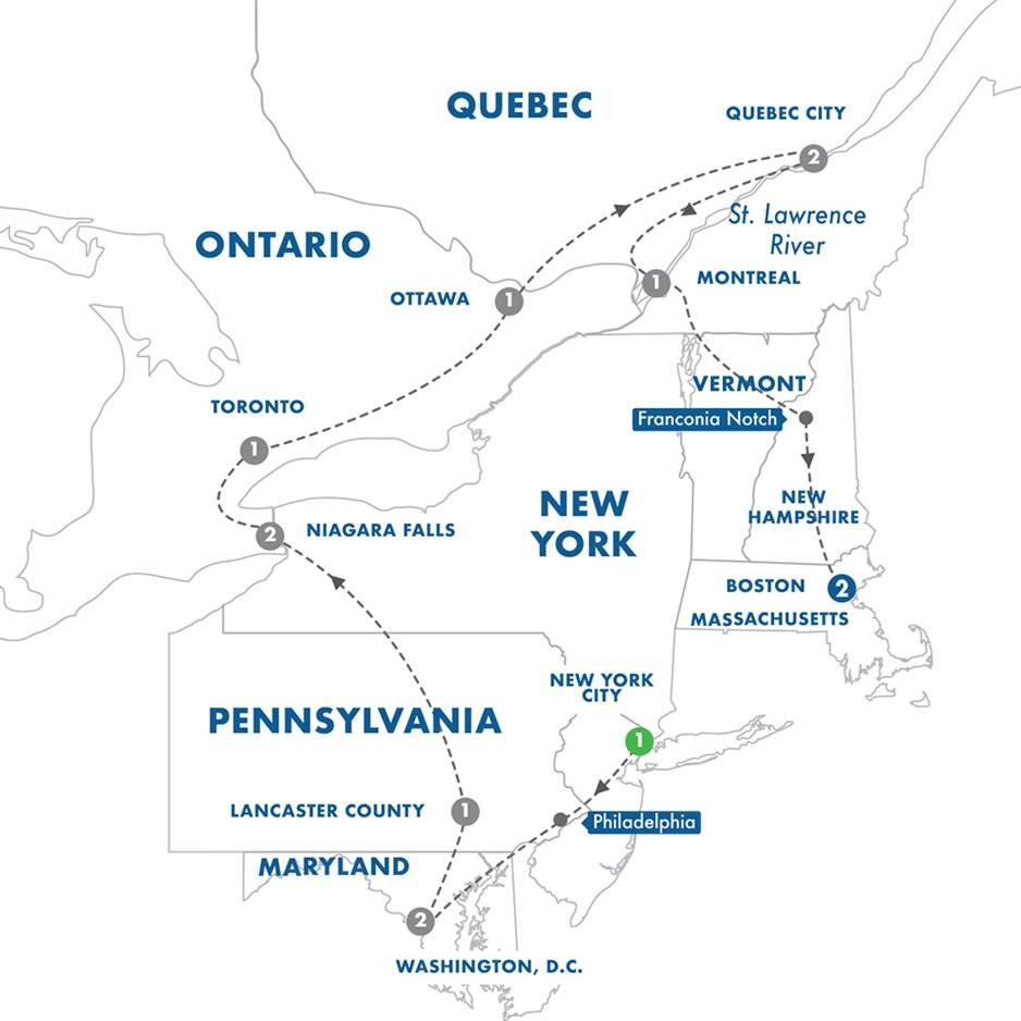 Map Of Eastern Canada And Usa.East Coast Usa Canada