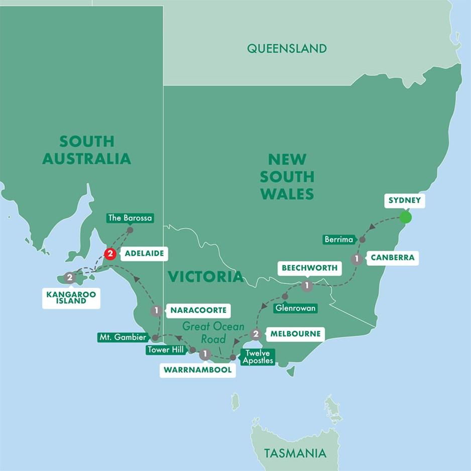 Canberra Australia Map.Tastes Of Southern Australia
