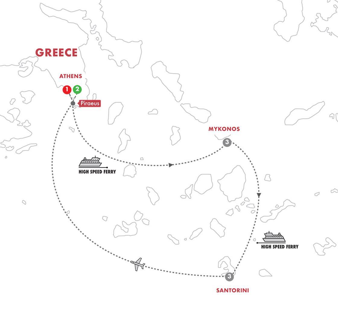Greek island tours grand european travel day 10 depart athens m4hsunfo