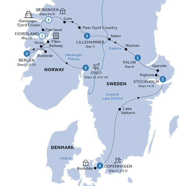 Fjords Trip Scandinavian Countries Map Picturesque | www ...