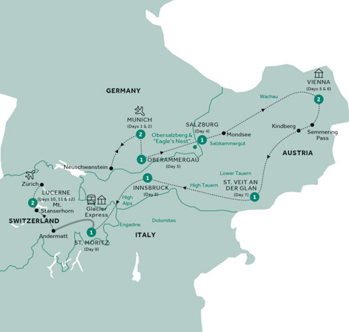 Country Roads of Bavaria, Switzerland & Austria Tour | Grand ...